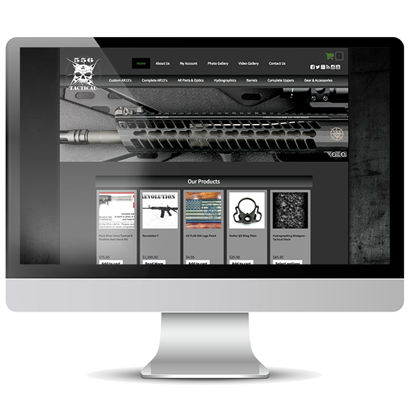 556 Tactical Website by Online Presence Builders