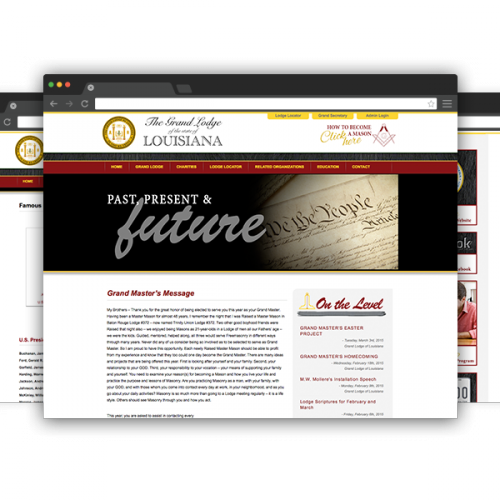Grand Lodge of Louisiana Website Built by Online Presence Builders