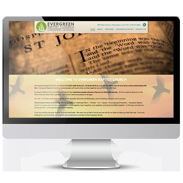 Evergreen Baptist Church Website