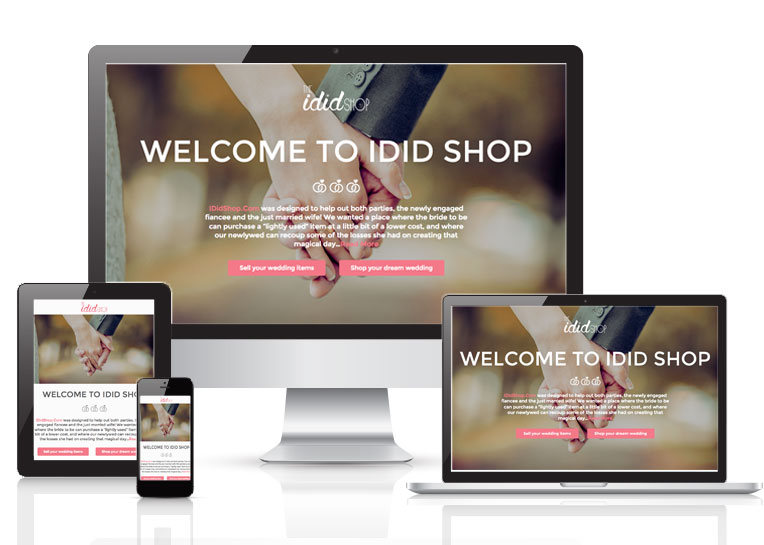 Used wedding items store - I Did Shop website adaptive