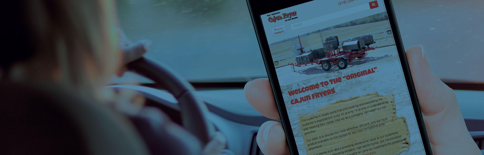 Mobile website - Cajun Fryer