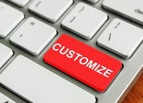 customized website build